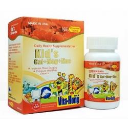 維他康-美國-兒童 鈣 + 鎂 + 鋅 咀嚼片